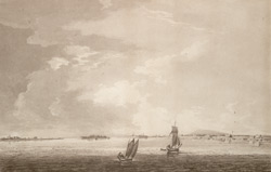 A View of MONTREAL, with the parish of Longuil in Canada, taken near Longuil Point